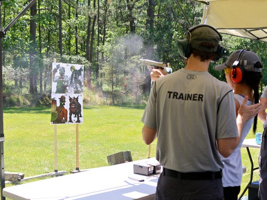 The shooting range at the Zombie Survival Camp.