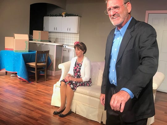 Arthur (Ron Pirello) peers into an uncertain future as he prepares for the departure of his wife, Clara (Cindy Hile) to a nursing home.