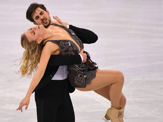 Ice dancers Madison Hubbell and Zachary Donohue of