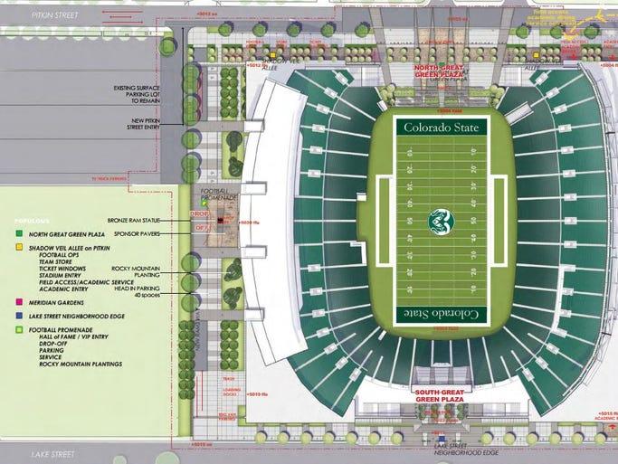 CSU on-campus stadium renderings.