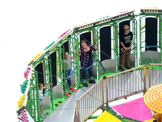 The Tioga County Fair in Owego features 4-H competitions, entertainment, carnival rides and food. Wednesday, August 8, 2018.
