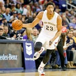 New Orleans Pelicans forward Anthony Davis (23) drives with the ball against the Sacramento Kings in a recent game
