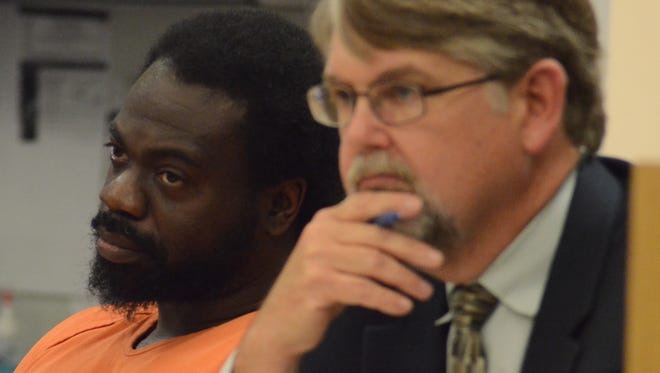 Jerrell Finch with his attorney, Niels Magnusson