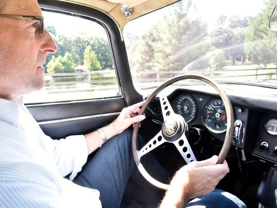 Professional race car driver Jim Pace of Ridgeland