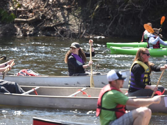 Jillian Barnes of Millbrook paddles at the 48th annual Wappingers Creek Water Derby in this file photo.