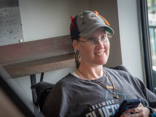 Heather Walters, borm with spina bifida, is a longtime Lakewood BlueClaws season ticket holder.