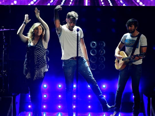 Lady Antebellum performs on their Wheels Up 2015 Tour