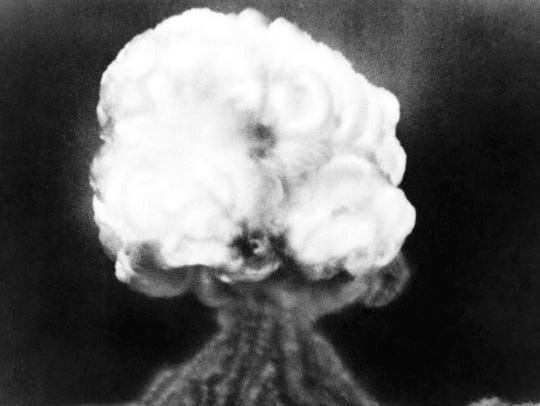FILE - This July 16, 1945 photo, shows the mushroom