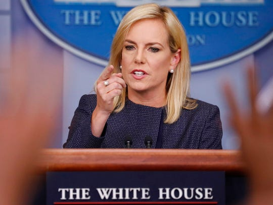 In this June 18, 2018 photo, Homeland Security Secretary