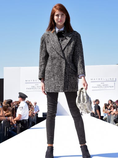 TORRANCE, CA - AUGUST 08:  A model walks the runway during Teen Vogue's Back To School Saturdays Kick-Off at Del Amo Fashion Center on August 8, 2014 in Torrance, California.  (Photo by Jason Kempin/Getty Images for Teen Vogue)