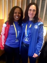 Gulf Winds Track Club members Tsige Tadesse and Birgit Maier-Katkin.