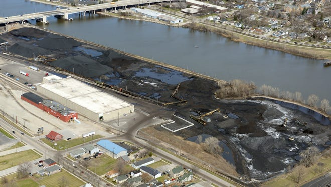 C. Reiss Coal Co. Green Bay Wharf Port Facility on the west bank of the Fox River in Green Bay.