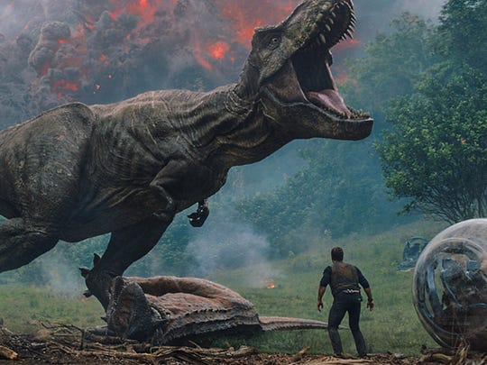 """Jurassic World: Fallen Kingdom"" opens Thursday at Regal West Manchester Stadium 13, Frank Theatres Queensgate Stadium 13 and R/C Hanover Movies."