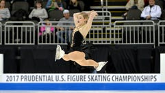 Gracie Gold during the short program in the U.S. Figure