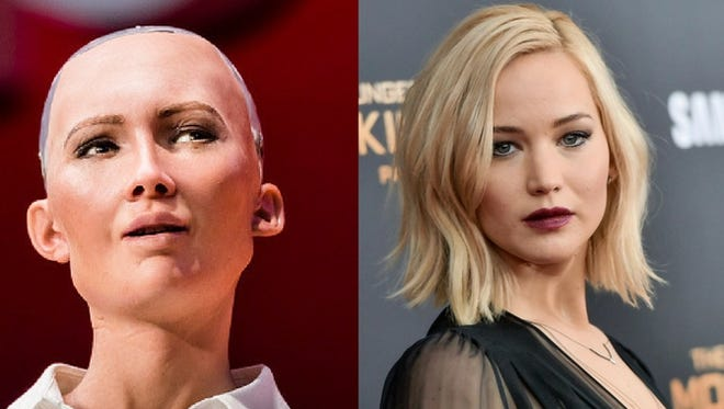 Sophia Robot vs. Jennifer Lawrence