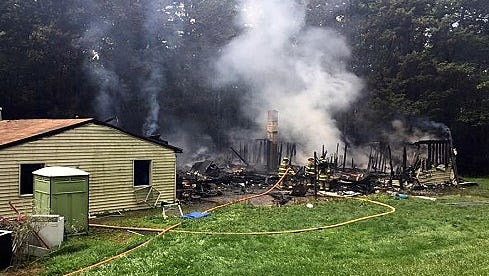 A house on Williams Road in the Town of Caton was destroyed by fire Thursday morning.