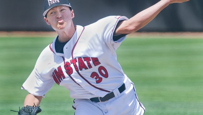 New Mexico State pitcher Tyler Erwin was one of three Aggies who were drafted and signed with Major League Baseball organizations.