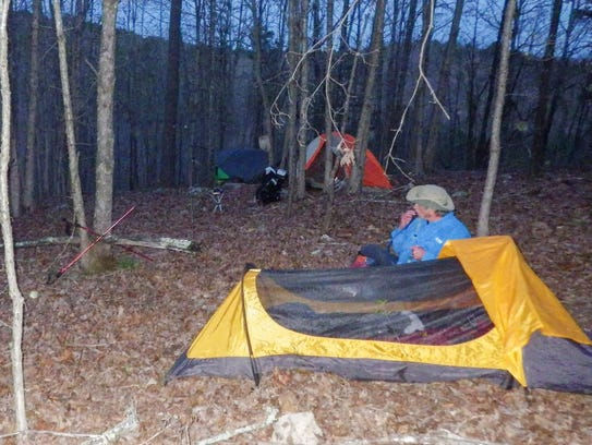 Just off the trail, we set up camp beneath a nearly