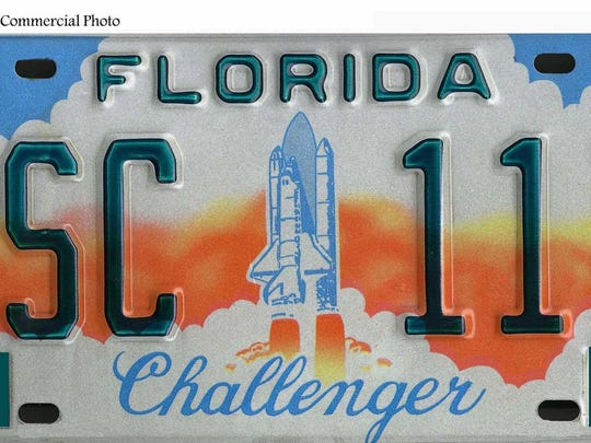 The original Challenger specialty license plate debuted