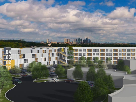 Alloy, shown here in a rendering, is within a short walk of the 117-acre Nashville Fairgrounds, where Mayor Megan Barry plans to invest $15 million in upgrades, including soccer fields and a park.
