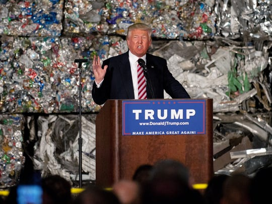 Republican presidential nominee Donald Trump outlined