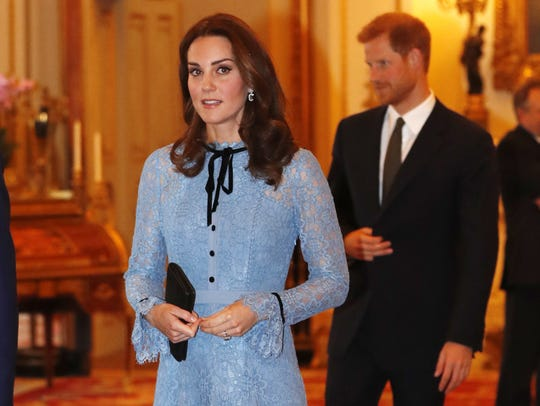 Duchess Kate of Cambridge at reception at Buckingham