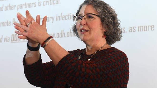 Kent City Health Commissioner Joan Seidel recently led a forum on the coronavirus at Kent Free Library. The Kent Health Department is planning to use a grant to hire people to do contract tracing for Covid-19.