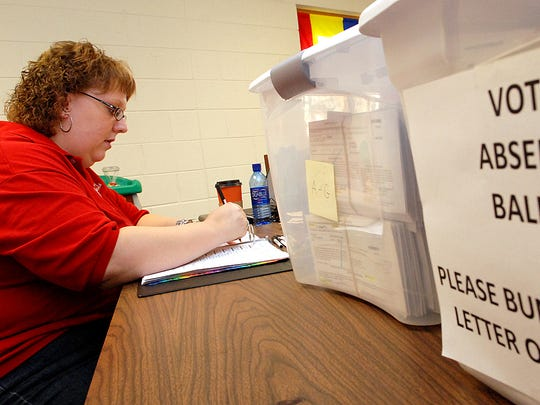 City of Delafield Clerk-Treasurer Gina Gresch City process 1,542 absentee ballots on Nov. 4, 2008.