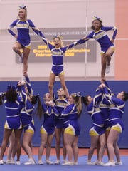 West Irondequoit performs their routine.