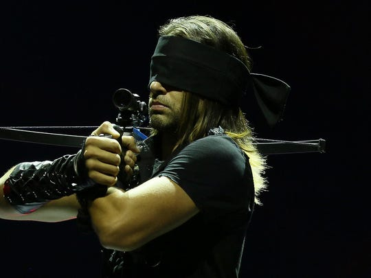 "Ben Blaque, ""The Weapon Master,"" has appeared four times on ""America's Got Talent"" with his acts of dexterity using crossbows to shoot various objects supported by his assistant."