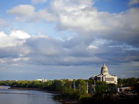 The Missouri State Capitol overlooks the Missouri River