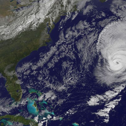 This NOAA-NASA GOES Project satellite image of Hurricane