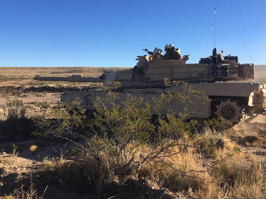 Soldiers with 1-77 Armor use their Abrams tanks to stage what it is known as a deliberate attack during platoon-level exercises.