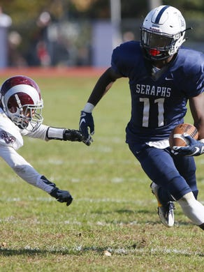 Mater Dei Prep, with senior receiver Eddie Lewis as one of its key players, moves into the Asbury Park Press Top 10 this week.