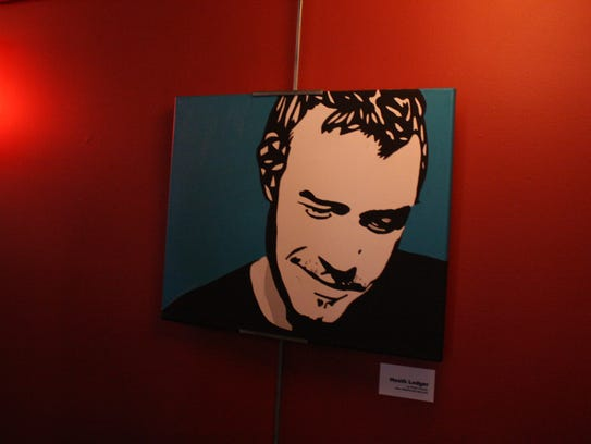Robert Hoover's painting of Heath Ledger was hung in