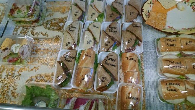 Fresh-made sandwiches at Chateau Gourmet Euro-Deli.