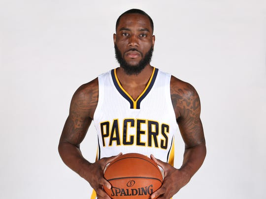 Indiana Pacers player Rakeem Christmas is shown at Pacers media day at Bankers Life Fieldhouse in Indianapolis on Monday, September 28, 2015.