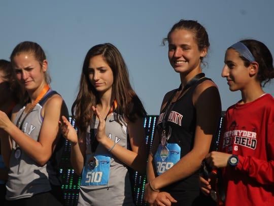 Maclay seventh-grader Ella Porcher (second from left)