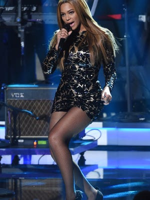 """Beyonce performs at """"Stevie Wonder: Songs in the Key of Life - An All-Star Grammy Salute,"""" at the Nokia Theatre L.A. Live on Tuesday."""