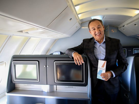 United Airlines CEO Oscar Munoz poses for portraits