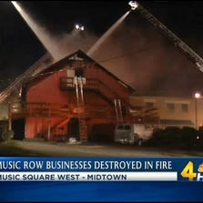 A massive fire destroyed businesses on Music Row.