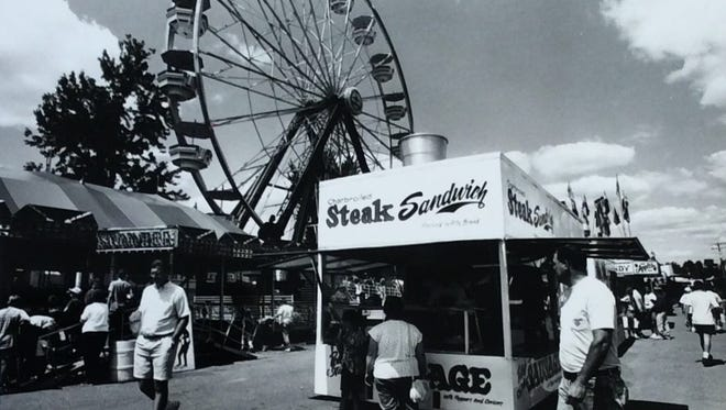 The Midway at the Ingham County Fair, August 1992.