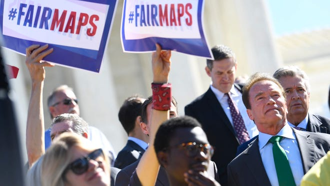 The battle over partisan election maps has dominated the Supreme Court's term since October, when the first case from Wisconsin attracted former California governor Arnold Schwarzenegger, an opponent of the political process.