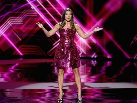 Host Danica Patrick speaks onstage at the ESPYs on
