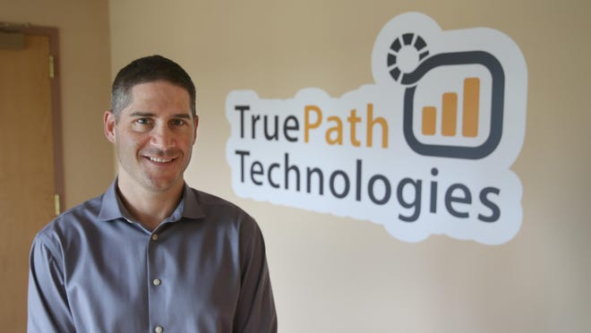 Douglas Mauro, founder and CEO of True Path Technologies, at his company in Victor Thursday, Aug. 18, 2016.