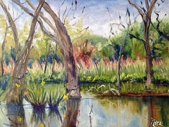 Painting of the Great Swamp by Nora Roberto.