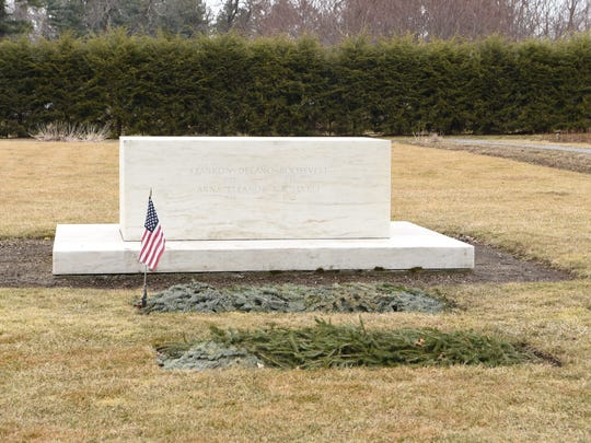 The gravesite of former President Franklin D. Roosevelt and Eleanor Roosevelt on the Home of Franklin D. Roosevelt National Historic Site.