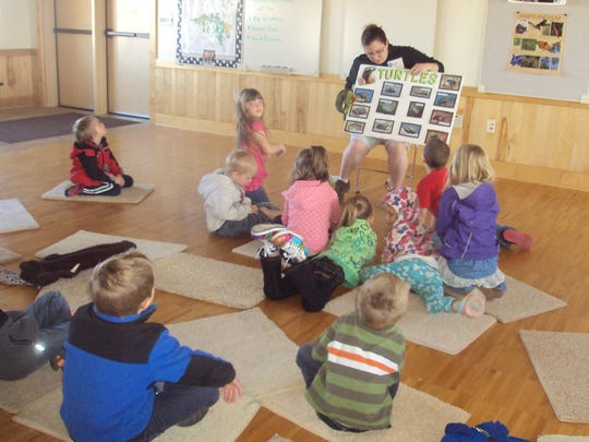 The 4K students at StoryBook Kids recently received a grant from the Izaak Walton League which provided transportation costs to visit the Mead Wildlife Area, Miladore in May. Students spent their time learning more about turtles with staff members.
