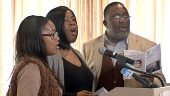 """Lift every voice and sing"" is performed at the opening of the 28th Annual Dr. Martin Luther King, Jr. Memorial Breakfast hosted by The Community YMCA and YMCA of Western Monmouth County at Branches Catering in West Long Branch Monday, January 16, 2017."