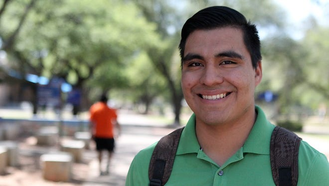 Pascual Callejas, a junior at Angelo State University, is in his third year as an enrollee in the Deferred Action for Childhood Arrivals, or DACA.